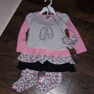 3pc Girls sz 4T Knit Works NEW outfit